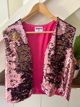 Load image into Gallery viewer, Pink Sequins sleeveless Jacket
