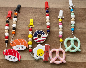 Yummy Treats Teether Toy Clips