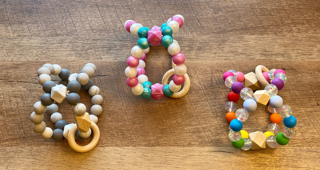 Triple Tooth Twister Teether Rattle