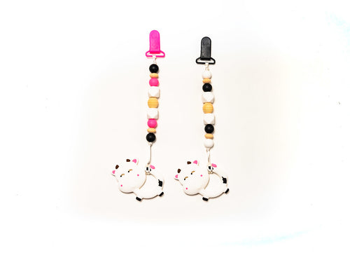 Bessie the Cow Teether Toy Clip