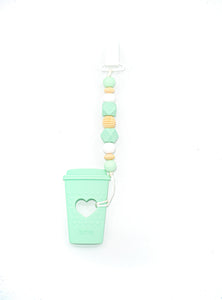 Coffee Cup Teether Toy Clip