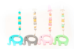 Elelphant Teether Toy Clip