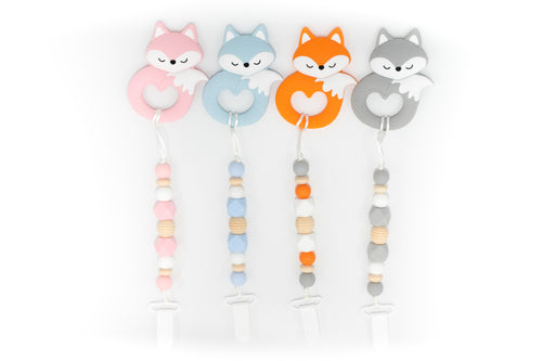 Fox Teether Toy Clip