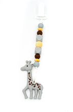Load image into Gallery viewer, Giraffe Teether Toy Clip