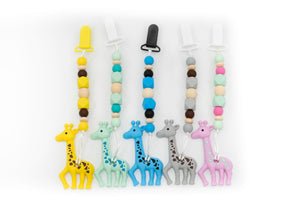 Giraffe Teether Toy Clip
