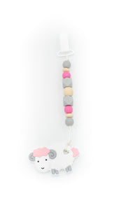 Lamb Teether Toy Clip