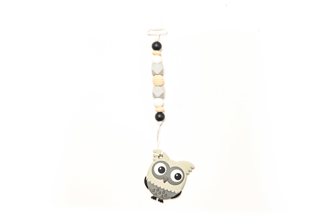Owl Teether Toy Clip