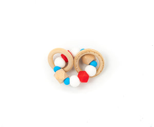 Double Ring Teether Rattle