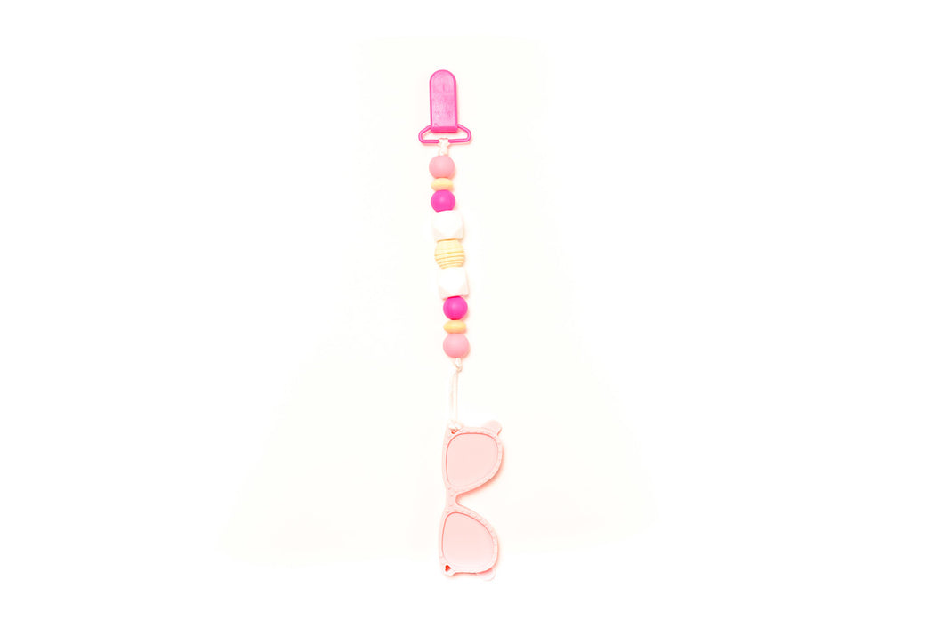 Sunglass Teether Toy Clip