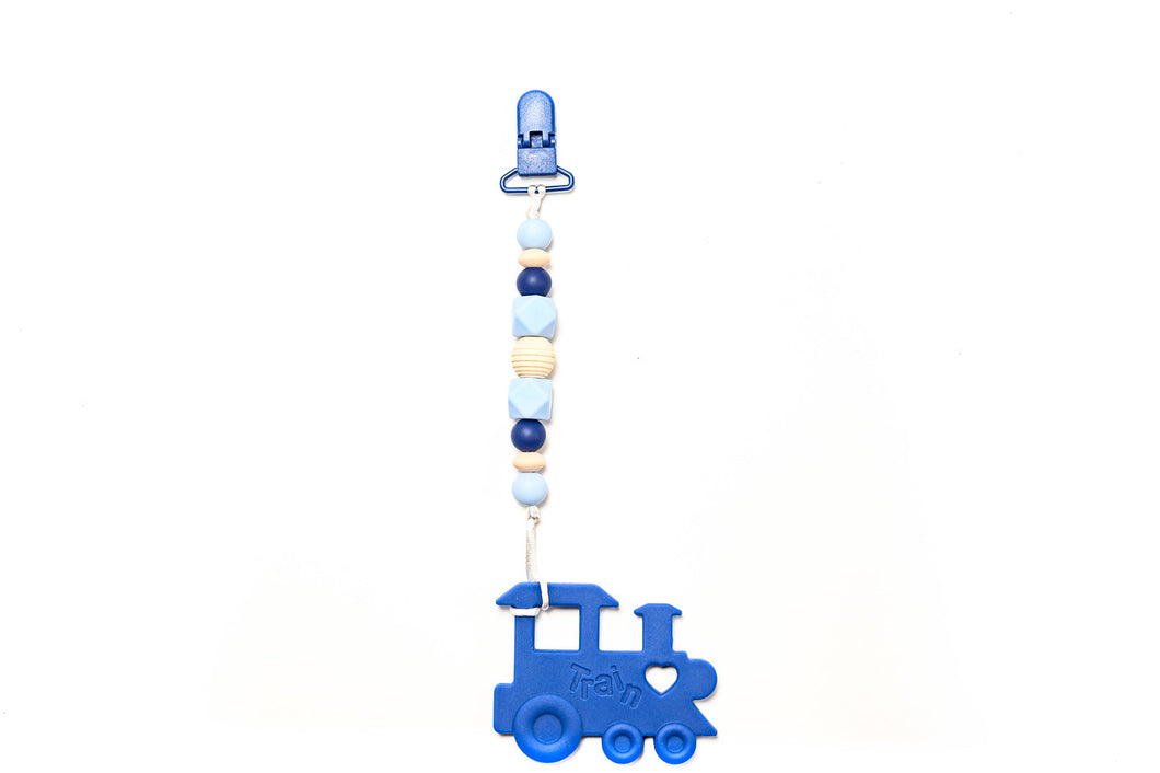 Train Teether Toy Clip