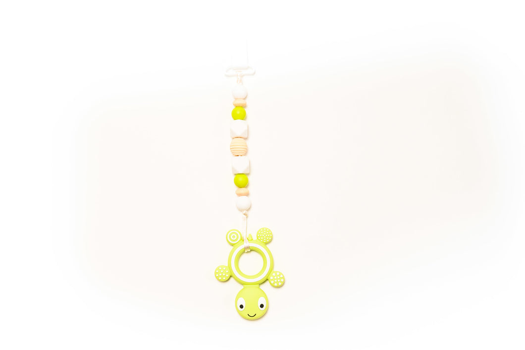 Turtle Teether Toy Clip