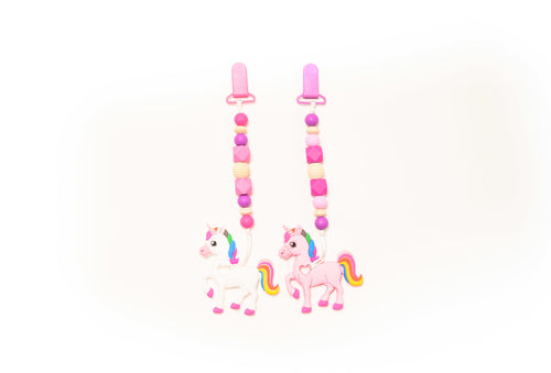 Unicorn Teether Toy Clip