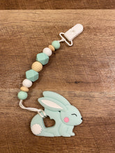 Load image into Gallery viewer, Spring Time Bunny and Lamb Teether Toy Clips