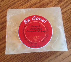 Be Gone! Honey & Cedarwood Essential Oil Soap
