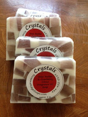 Crystals Shea Butter & Cranberry Citrus Fragrance Oil Soap w Labels