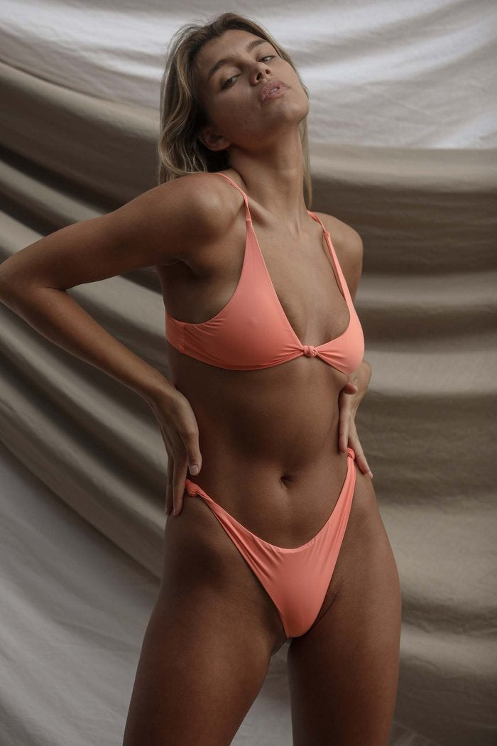 Toast Swim Signature Knot Top in Watermelon