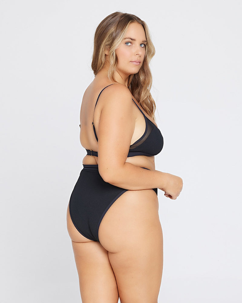 L*Space Palonia Bottom in Black Rib