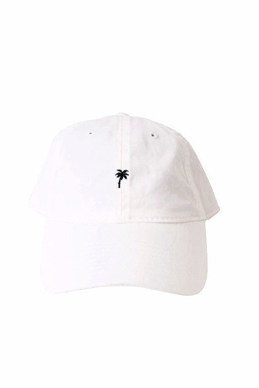 BikiniBird Palm Tree Baseball Hat in White