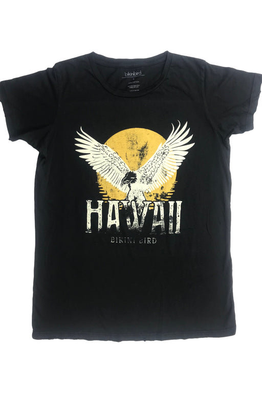 BikiniBird Eagle Hawaii Tee in Off Black