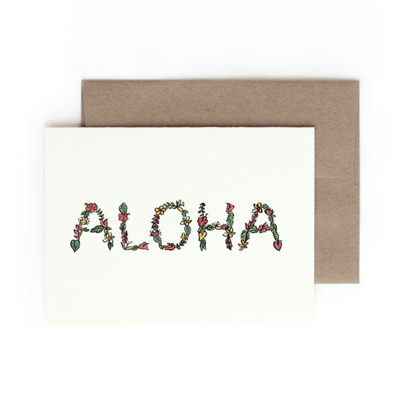 Hontas Higa Aloha Greeting Card