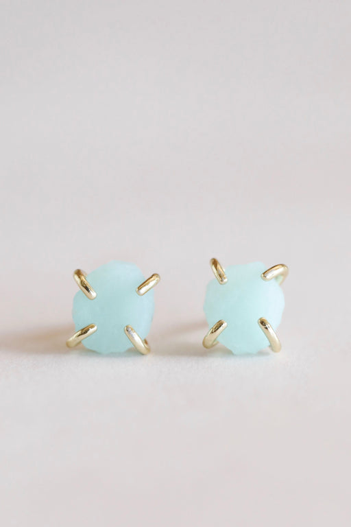 JaxKelly Amazonite Gemstone Prong Earring