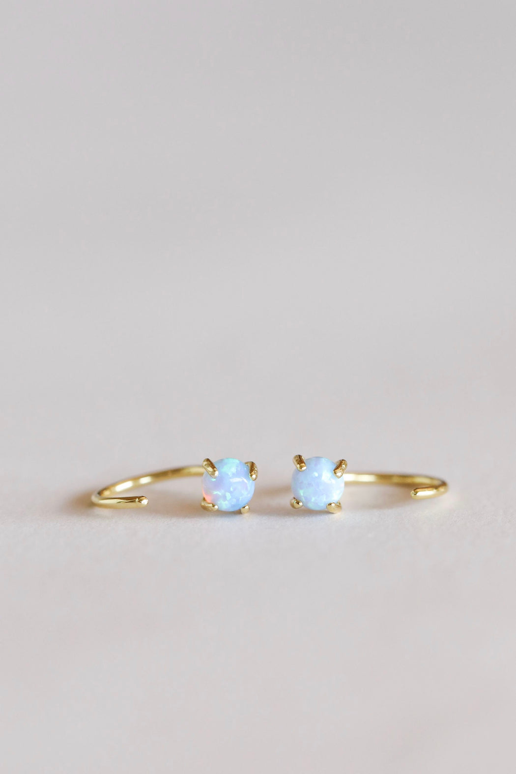 JaxKelly Gold Opal Huggie Earring