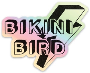 BikiniBird Holographic Bolt Sticker