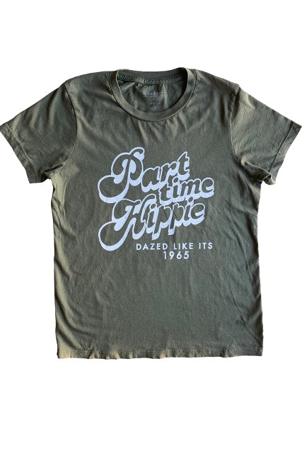 BikiniBird Part Time Hippie Tee in Olive