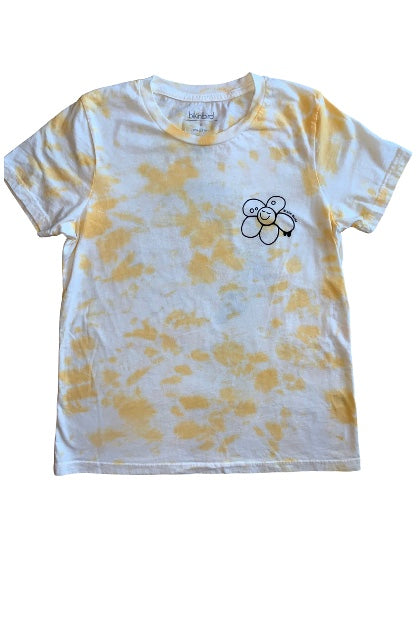 BikiniBird No Rain, No Rainbows Tee in Yellow Tie Dye