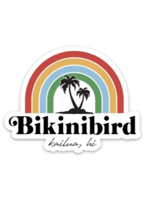 BikiniBird Rainbow Sticker