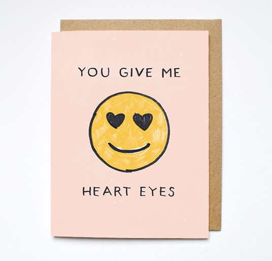 Daydream Prints Heart Eyes Card