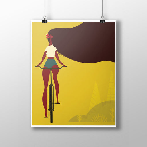 "Punky Aloha Studio ""Going for a Ride"" Print"
