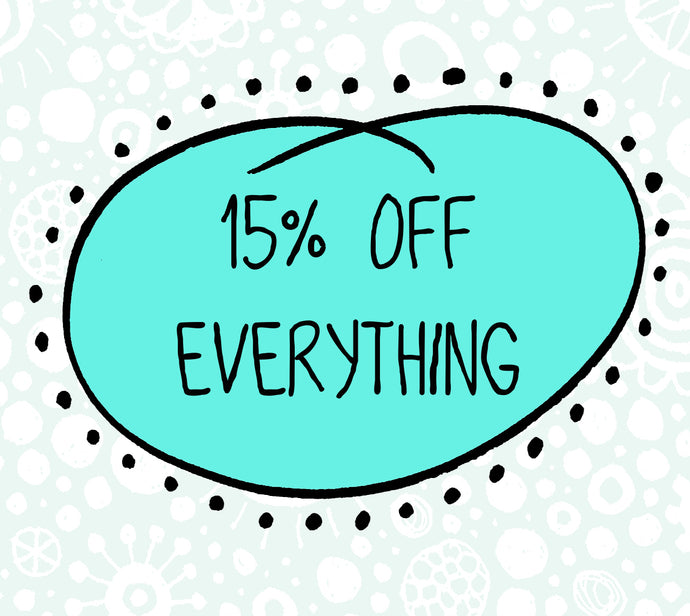 15% off all orders
