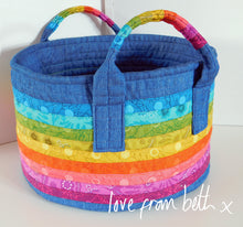 Load image into Gallery viewer, Rainbow Basket Sewing Pattern