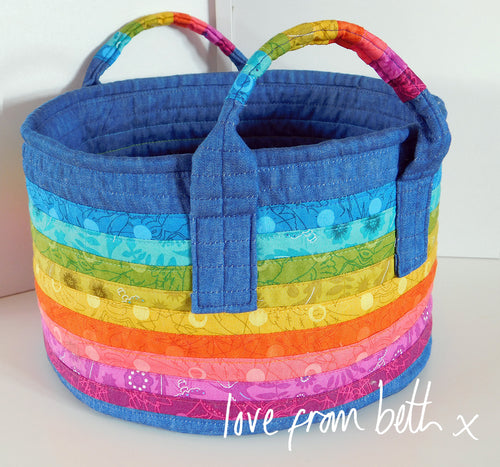Rainbow Basket Sewing Pattern