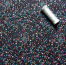 Load image into Gallery viewer, Quilting Cotton - Beth Studley 'Reef' Collection - Bubbles (Black)