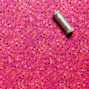 Quilting Cotton - Beth Studley 'Reef' Collection - Bubbles (Pink)