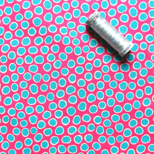 Quilting Cotton - Beth Studley 'Reef' Collection - Fish Spot (Pink)