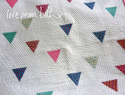 Arrow Drops Baby Quilt Sewing Pattern