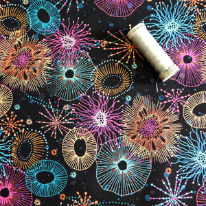 Quilting Cotton - Beth Studley 'Reef' Collection - Main (Black)