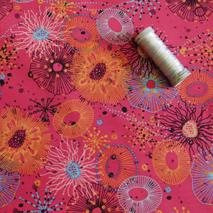 Quilting Cotton - Beth Studley 'Reef' Collection - Main (Pink)