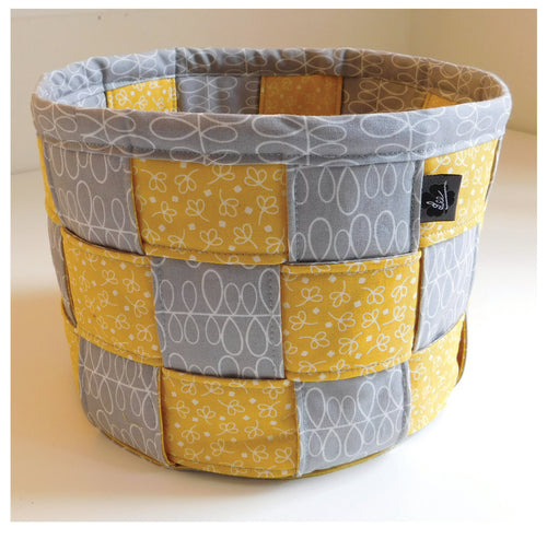 A Lovely Woven Basket Sewing Pattern