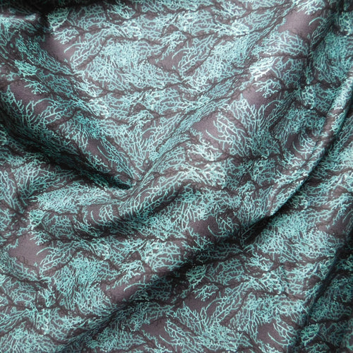 Quilting Cotton - Beth Studley 'Reef' Collection - Seaweed (Black)