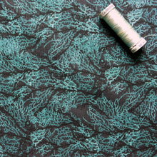 Load image into Gallery viewer, Quilting Cotton - Beth Studley 'Reef' Collection - Seaweed (Black)