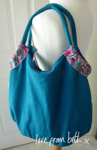 Reversible Beach Bag Sewing Pattern