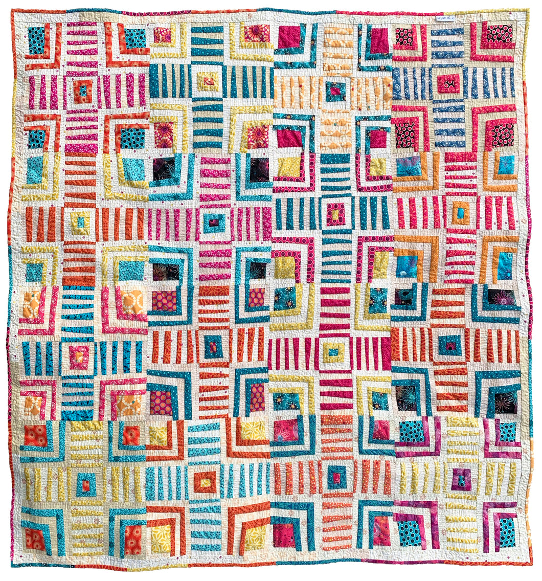 Cabin Crosses Quilt Sewing Pattern