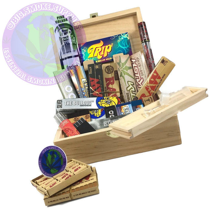 Large RAW Rolling Smoking Box Set - Smokers Hamper Gift Set Kit