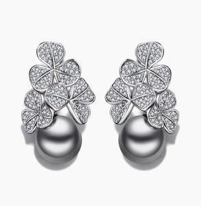 Gift Fashion flower drop earring statement jewelry