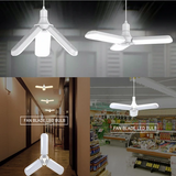 Three-Leaf Fan Shaped Foldable LED Light - More Than 80% Power Saving