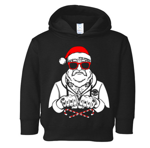 Badass Santa Christmas Hoodie (with sideseam pockets)